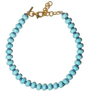 Lele Sadoughi Turquoise Country Club Necklace